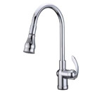 Alpha International 92-599 Chrome Pull Down Spray Kitchen Faucet