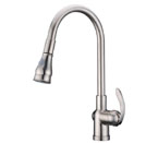 Alpha International 92-599 Brushed Chrome Pull Down Spray Kitchen Faucet