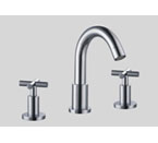 Dawn AB03 1513 3 Hole Widespread Lavatory Faucet with Cross Handles Chrome