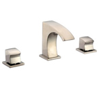 Dawn AB77 1584 3 Hold Widespread Lavatory Faucet with Square Handles Brushed Nickel
