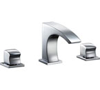 Dawn AB77 1584 3 Hole Widespread Lavatory Faucet with Square Handles Chrome