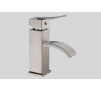 Dawn AB78 1258 Single Lever Square Lavatory Faucet with Sheetflow Spout Brushed Nickel