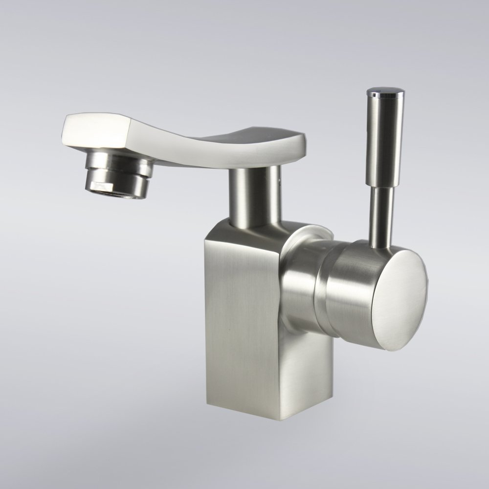 Decor Star Bathroom Vanity Sink Lavatory Faucet BHK03-SB Brushed Nickel