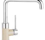 Blanco 441205 Purus I  Chrome/Biscotti Faucet