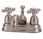 Elizabethan Classics CS04SN Centerset Bathroom Faucet - Satin Nickel With Metal Cross Handles