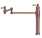 Danze D206557AC Opulence Single Handle Deck Mount Antique Copper Pot Filler