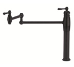 Danze D206557BS Opulence Single Handle Deck Mount Satin Black Pot Filler