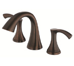 Danze D304022BR Antioch Two Handle Widespread Tumbled Bronze Lavatory Faucet