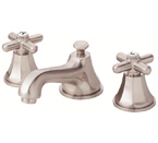 Danze D304066BN Brandywood Widespread Cross Handle Brushed Nickel Lavatory Faucet