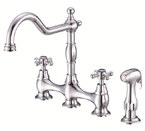 Danze D404557 Opulence Two Handle Chrome Bridge Faucet W/ Spray