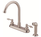 Danze D422055SS Sheridan Two Handle Stainless Steel High-Rise Kitchen Faucet W/ Spray