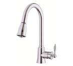 Danze D454510 Prince Single Handle Pulldown Chrome Kitche Faucet