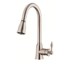 Danze D454510SS Prince Single Handle Stainless Stell Pulldown Faucet