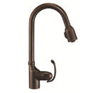 Danze D454520BR Anu Single Handle Pulldown Tumbled Bronze Faucet