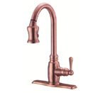 Danze D454557AC Opulence SIngle Handle Antique Copper Pulldown Faucet