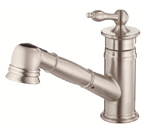 Danze D455010SS Prince Single Handle Stainless Steel Pullout Faucet