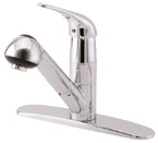 Danze D456012 Melrose Single Handle Chrome Pull-Out Kitchen Faucet