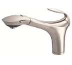 Danze D456747SS Corsair Single Handle Stainless Steel Pull-Out Faucet