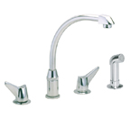 Elkay LKD2433 Chrome Side Spray Kitchen Faucet