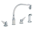 Elkay LKD2453 Chrome Side Spray Kitchen Faucet