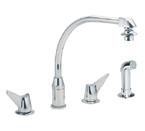 Elkay LKD2453 Chrome Side Spray Kitchen Faucet