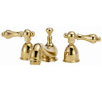Elizabethan Classics MW01PB Minispread Faucet - Polished Brass With Metal Lever Handles