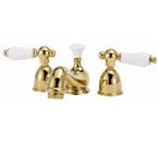 Elizabethan Classics MW02CP Minispread Faucet - Chrome With Porcelain Lever Handles