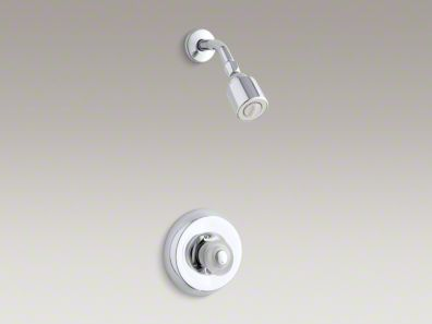 Kohler Coralais® shower trim set with sculptured acrylic handle, valve not included K-T15611-7-CP