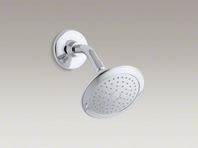 Kohler Alteo® 2.5 gpm single-function wall-mount showerhead with Katalyst® spray K-45123