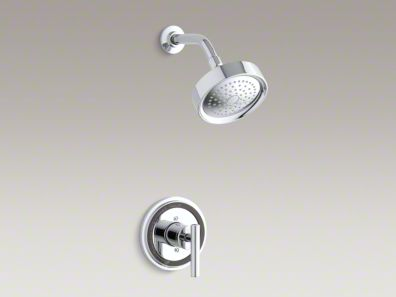 Kohler Taboret® Rite-Temp® pressure-balancing shower faucet trim with lever handle, valve not included K-T8226-4