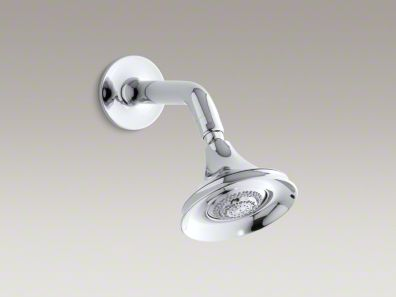 Kohler Symbol® 2.5 gpm multifunction wall-mount showerhead with arm and flange K-18494
