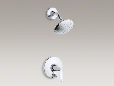Kohler Refinia® shower trim set with push-button diverter and lever handle for Rite-Temp® pressure-balancing valve K-T5319-4