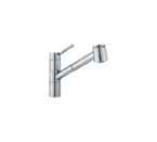 Franke FF-2000 Polished Chrome Pull Out Spray Kitchen Faucet
