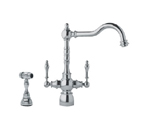 Franke FHF480 Satin Nickel Arc Spout Faucet With Side Spray