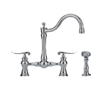 Franke FF7070 Polished Nickel Arc Spout With Side Spray Kitchen Faucet