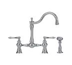 Franke FF7070A Polished Nickel Arc Spout With Side Spray Kitchen Faucet