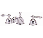 Elizabethan Classics WS01SN Widespread Faucet - Satin Nickel With Metal Lever Handles