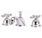 Elizabethan Classics WS4SN Widespread Faucet - Satin Nickel With Metal Cross Handles