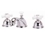 Elizabethan Classics WS05CP Widespread Faucet - Chrome With Porcelain Cross Handles