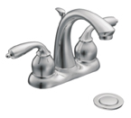 Moen Bayhill Chrome Two-Handle Low Arc Bathroom Faucet - CA84292