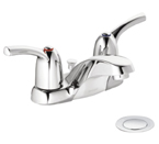 Moen Adler Chrome Two-Handle Low Arc Bathroom Faucet - CA84403