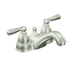 Moen Banbury Spot Resist Brushed Nickel Two Handle Low Arc Bathroom Faucet - CA84912SRN