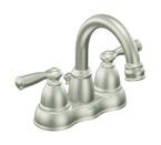 Moen Banbury Spot Resist Brushed Nickel Two Handle High Arc Bathroom Faucet - CA84913SRN