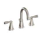 Moen Banbury Spot Resist Brushed Nickel Two Handle High Arc Bathroom Faucet - CA84924SRN
