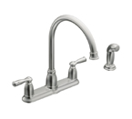 Moen Banbury Chrome Two Handle High Arc Kitchen Faucet - CA87000