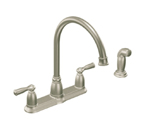 Moen Banbury Spot Resist Stainless Two Handle High Arc Kitchen Faucet - CA87000SRS