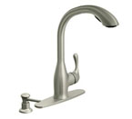 Moen Varese Spot Resist Stainless One-handle High Arc Pullout Kitchen Faucet