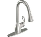 Moen kleo Spot Resist Stainless One-Handle High Arc Pulldown Kitchen Faucet - CA87011SRS