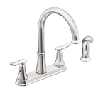 Moen Solidad Chrome Two Handle High Arc Kitchen Faucet - CA87015