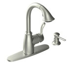 Moen Finley Sport Resist Stainless One-Handle High Arc Pulldown Kitchen Faucet - CA87054SRS